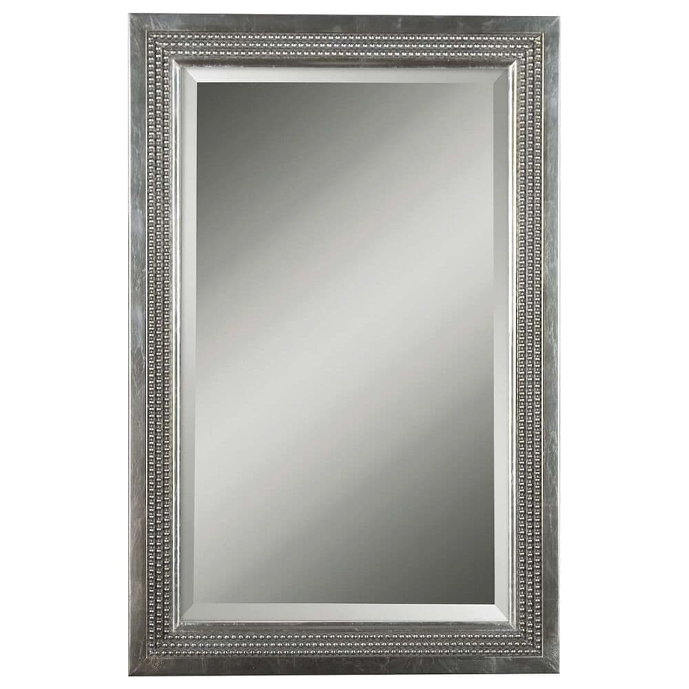 Uttermost Mirror in Silver Leaf and Light Gray, , large