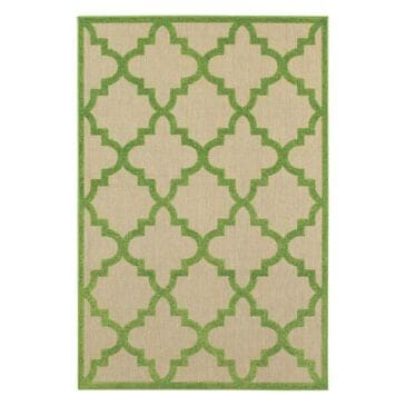 "Oriental Weavers Cayman 660F 3'10"" x 5'5"" Sand/Green Area Rug, , large"
