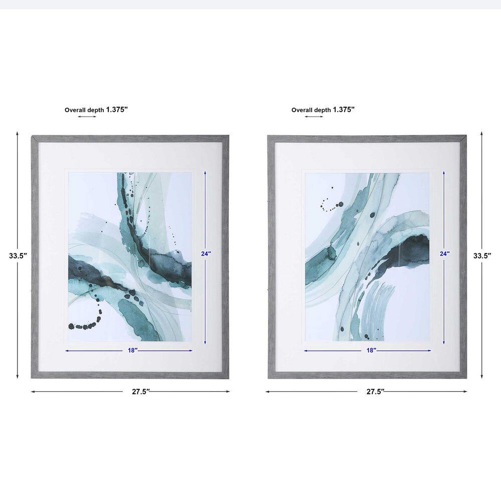 Uttermost Depth Abstract Watercolor Prints (Set of 2), , large