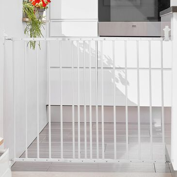 "LA Baby BabyDan 24.6"" - 42.2"" Extending Safety Gate in White, , large"