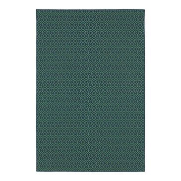 """Oriental Weavers Meridian 1634Q 3'7"""" x 5'6"""" Navy Area Rug, , large"""