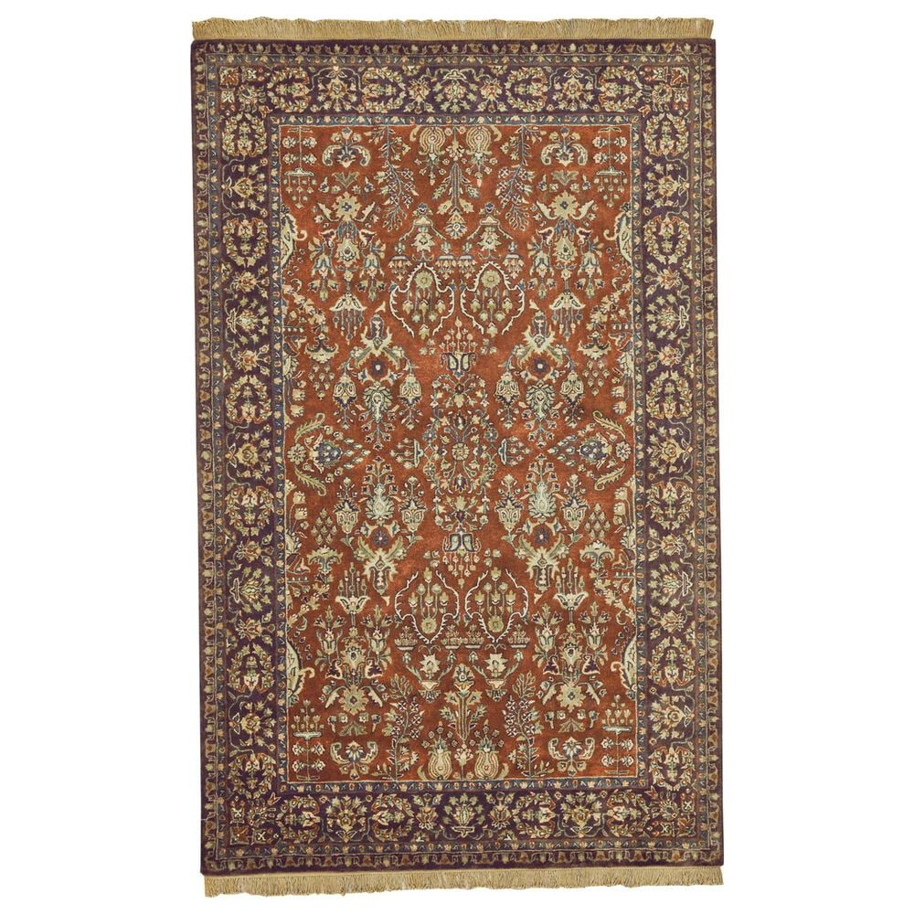 """Feizy Rugs Amore 8327F 9'6"""" x 13'6"""" Cinnamon and Plum Area Rug, , large"""