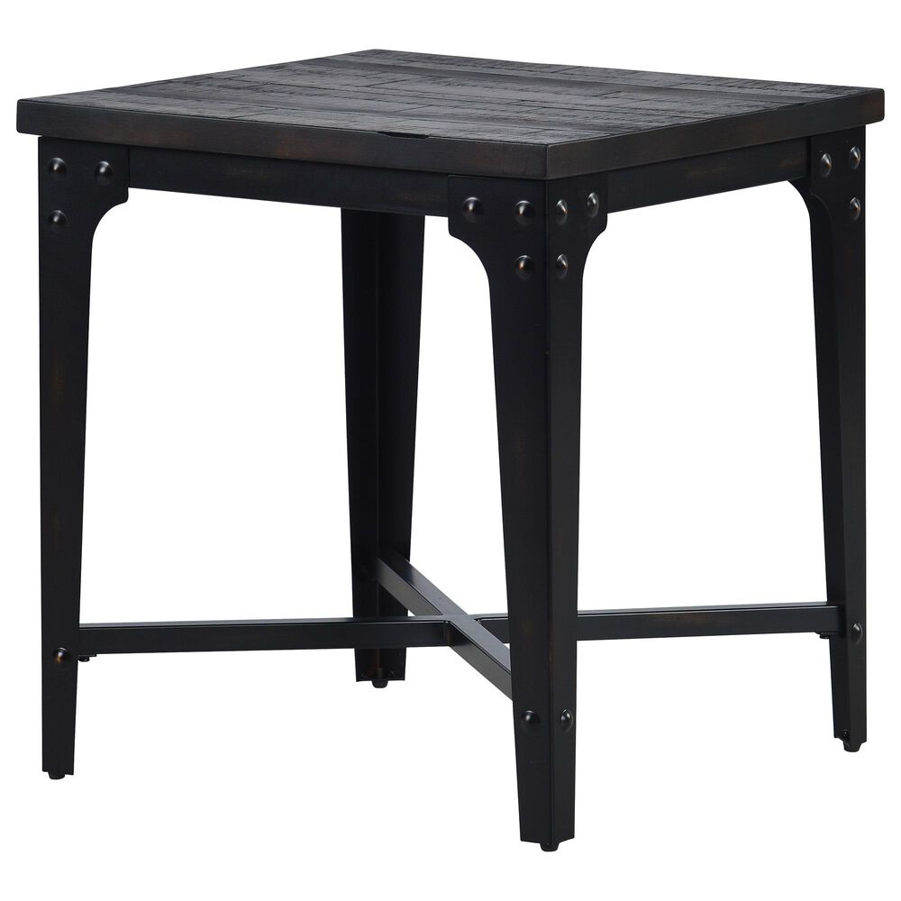 Steve Silver Sherlock End Table in Brown with Distressed Tobacco Finish, , large