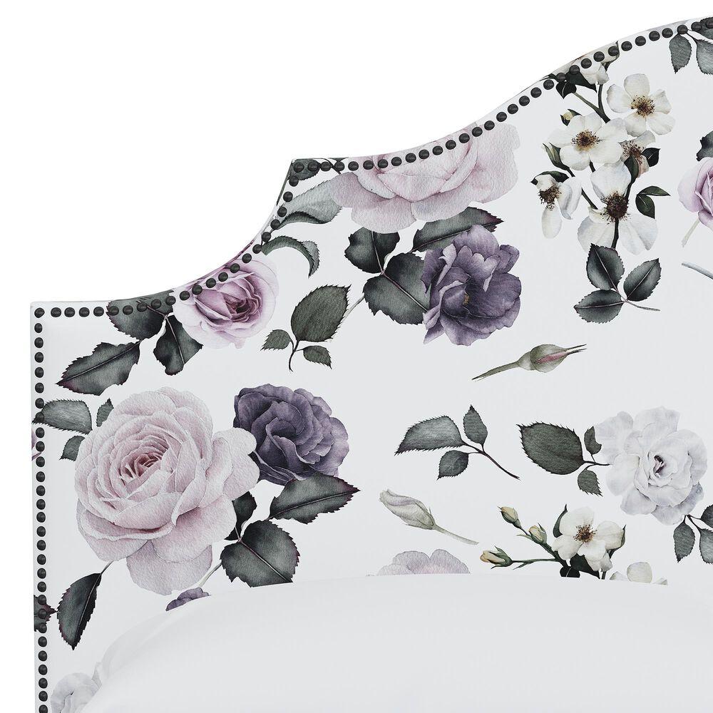 Skyline Furniture Queen Headboard in Soft Floral Sage, , large