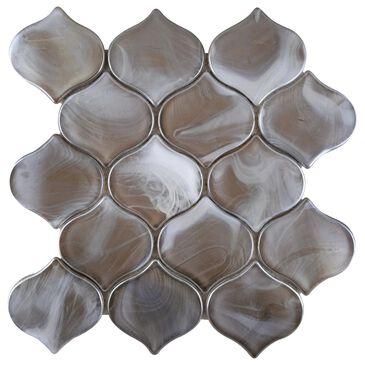 "Emser Splash Tan 10"" x 10"" Arabesque Glass Mosaic Sheet, , large"