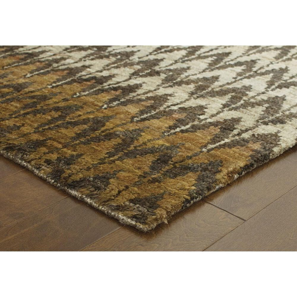 Oriental Weavers Ansley 50908 8' x 10' Brown and Blue Area Rug, , large