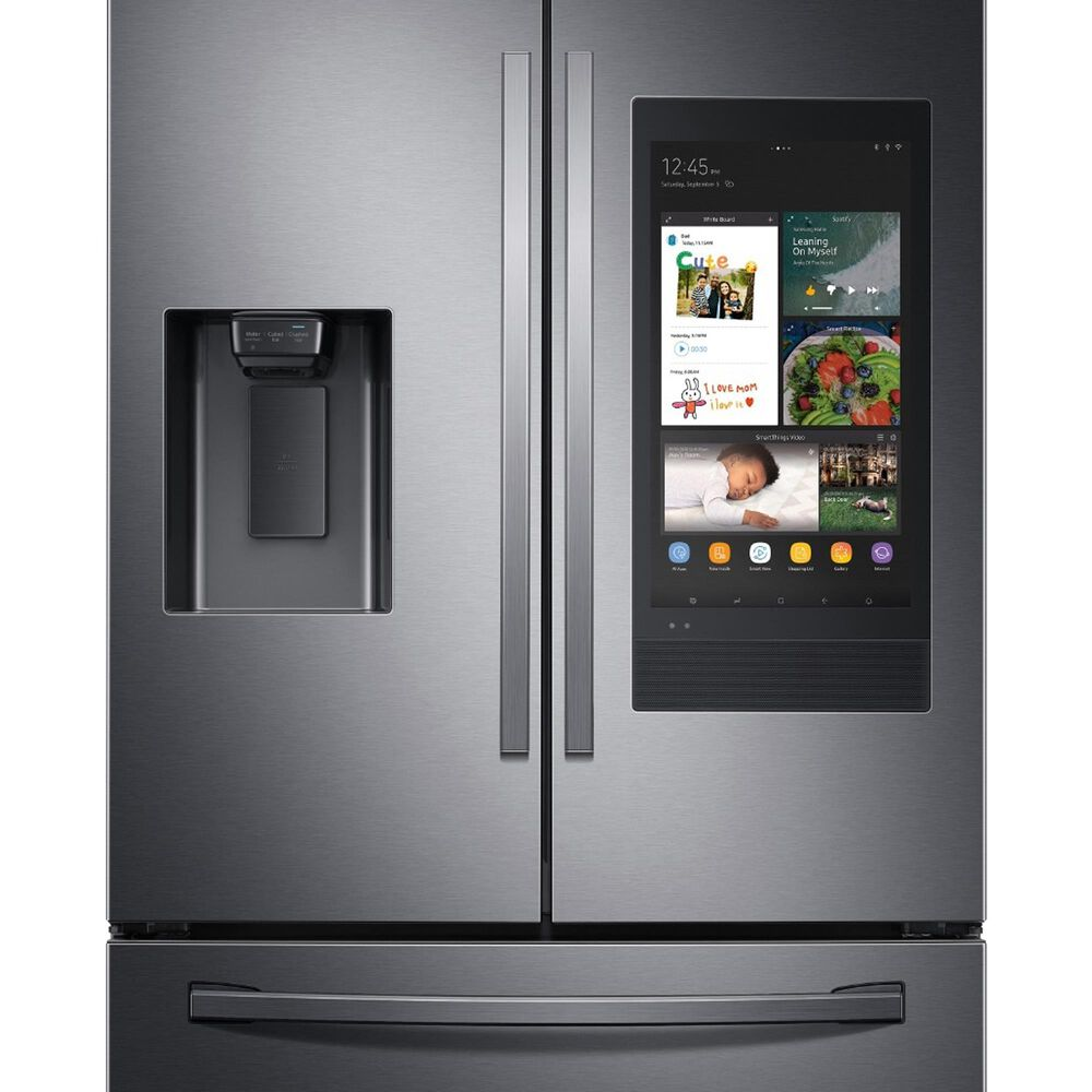 Samsung 2-Piece Kitchen Package with 26.5 Cu. Ft. French Door Refrigerator with Linear Wash Dishwasher in Black Stainless Steel, , large