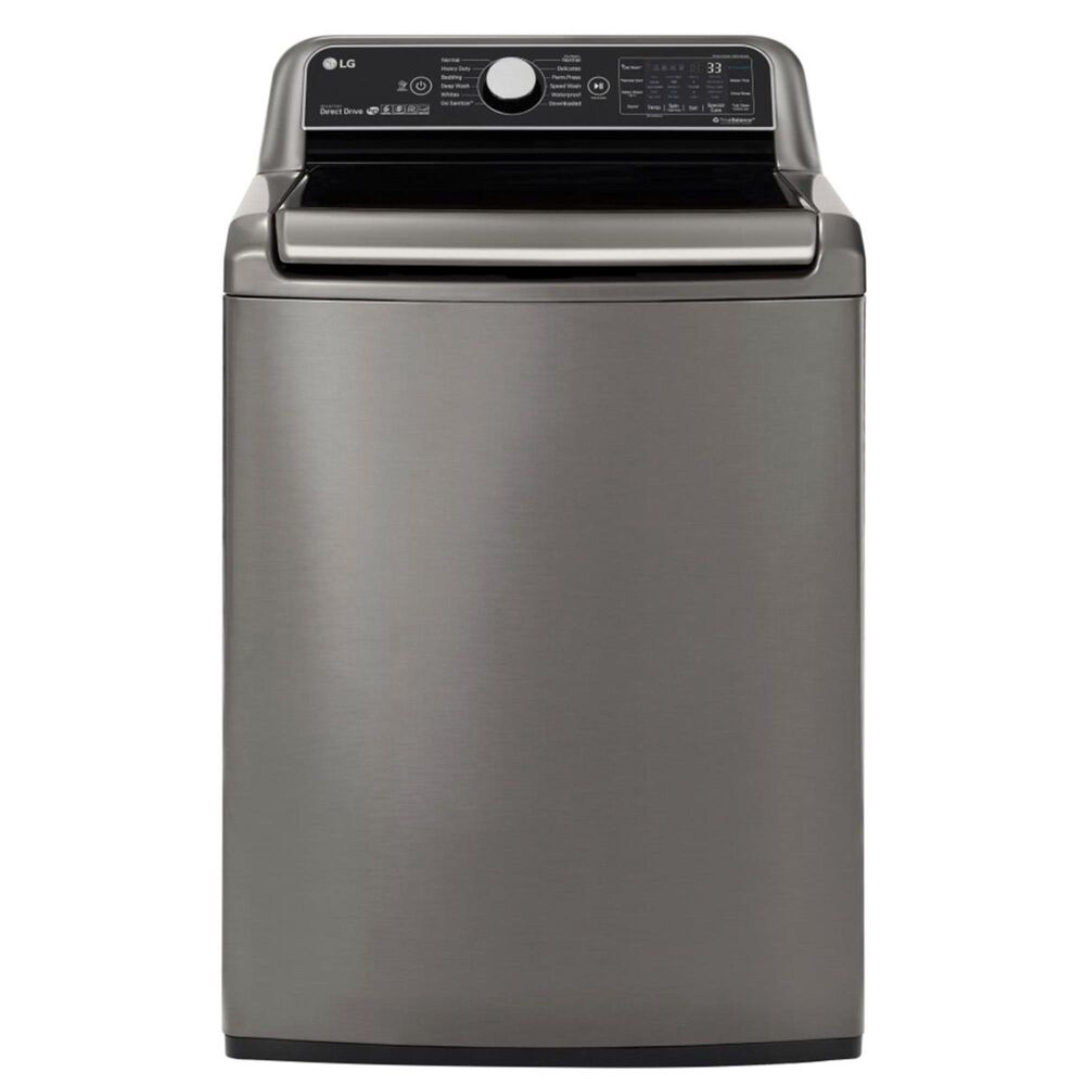 LG 5.5 Cu. Ft. Smart Wi-Fi Enabled Top Load Washer with TurboWash 3D Technology in Graphite Steel , , large