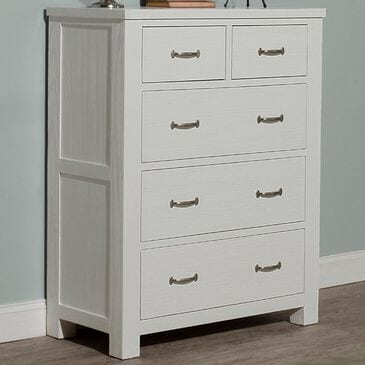 Richlands Furniture Highlands 5 Drawer Chest in White, , large