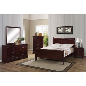 at HOME Louis Philip 4 Piece Queen Bedroom Set in Cherry, , large