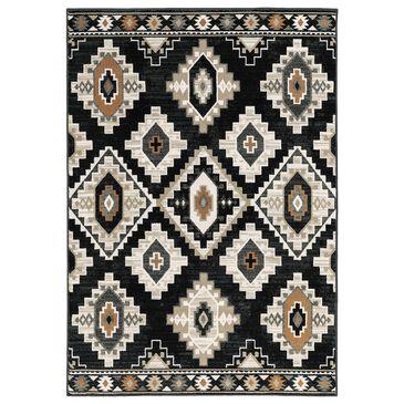 "Oriental Weavers Georgia Southwest 605F0 5'3"" x 7'3"" Charcoal and Ivory Area Rug, , large"