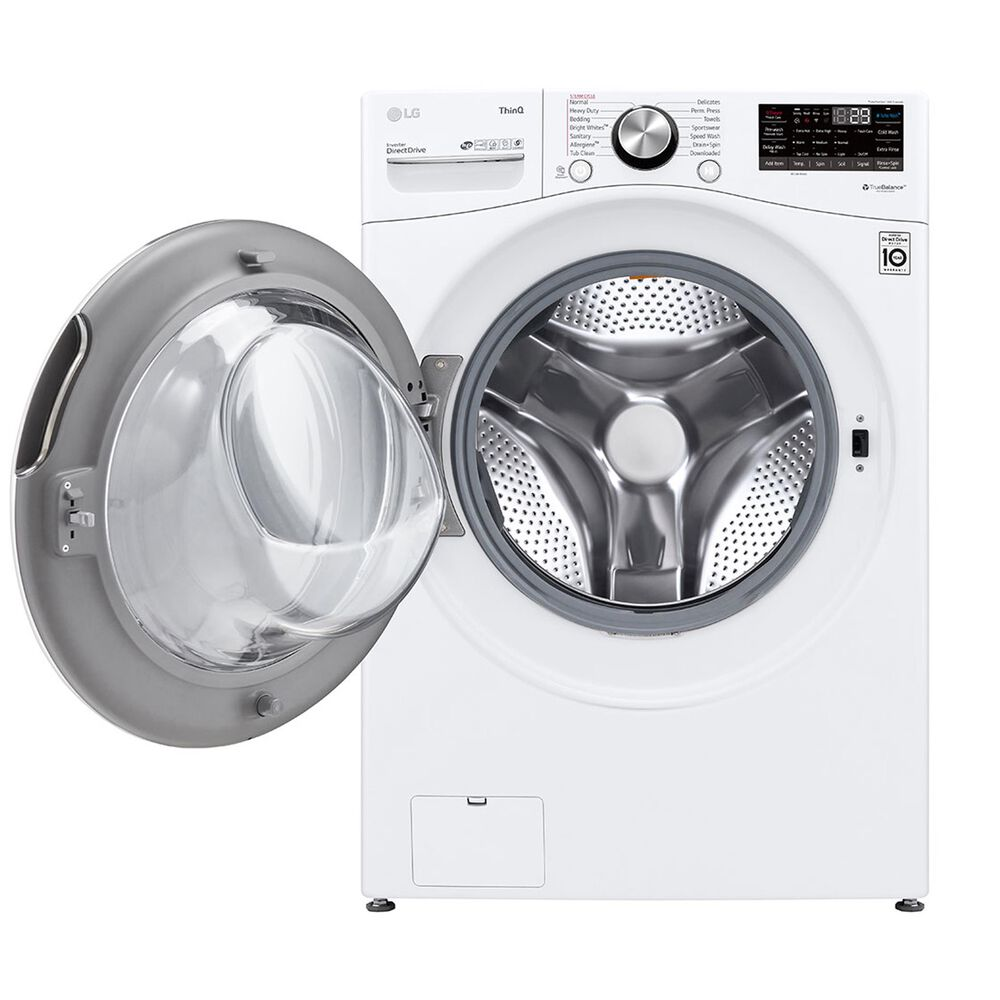 LG 5.0 Cu. Ft. Front Load Washer with TurboWash 360 in White, , large
