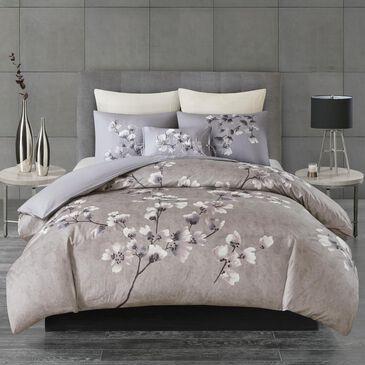 Hampton Park Sakura Blossom 3-Piece Full/Queen Duvet Set in Lilac, , large