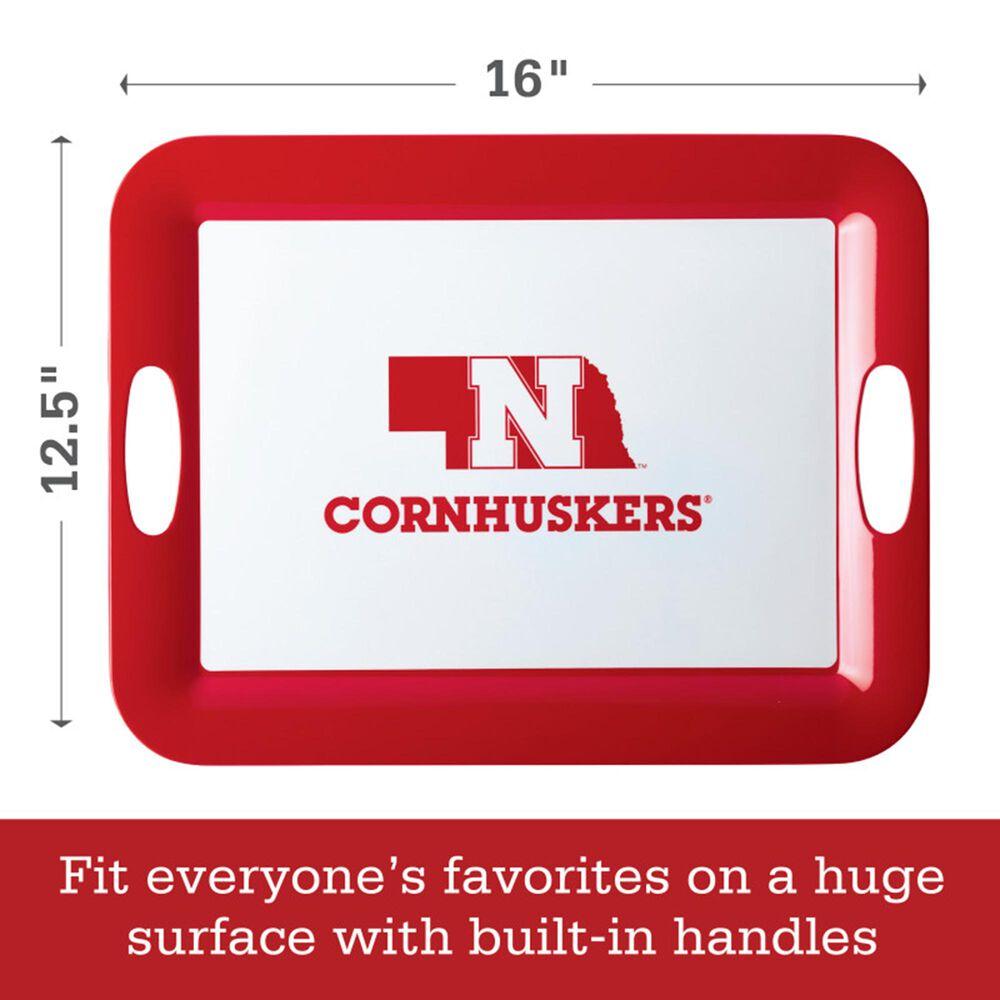 "Nebraska Cornhuskers 16"" x 12.5"" Party Platter in White, , large"