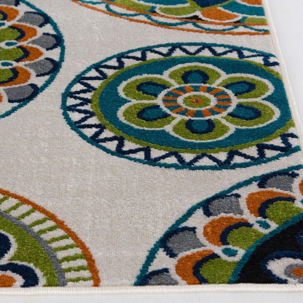 "Central Oriental Terrace Tropic Burnette 2300NI.084 5' x 7'3"" Multicolor Area Rug, , large"