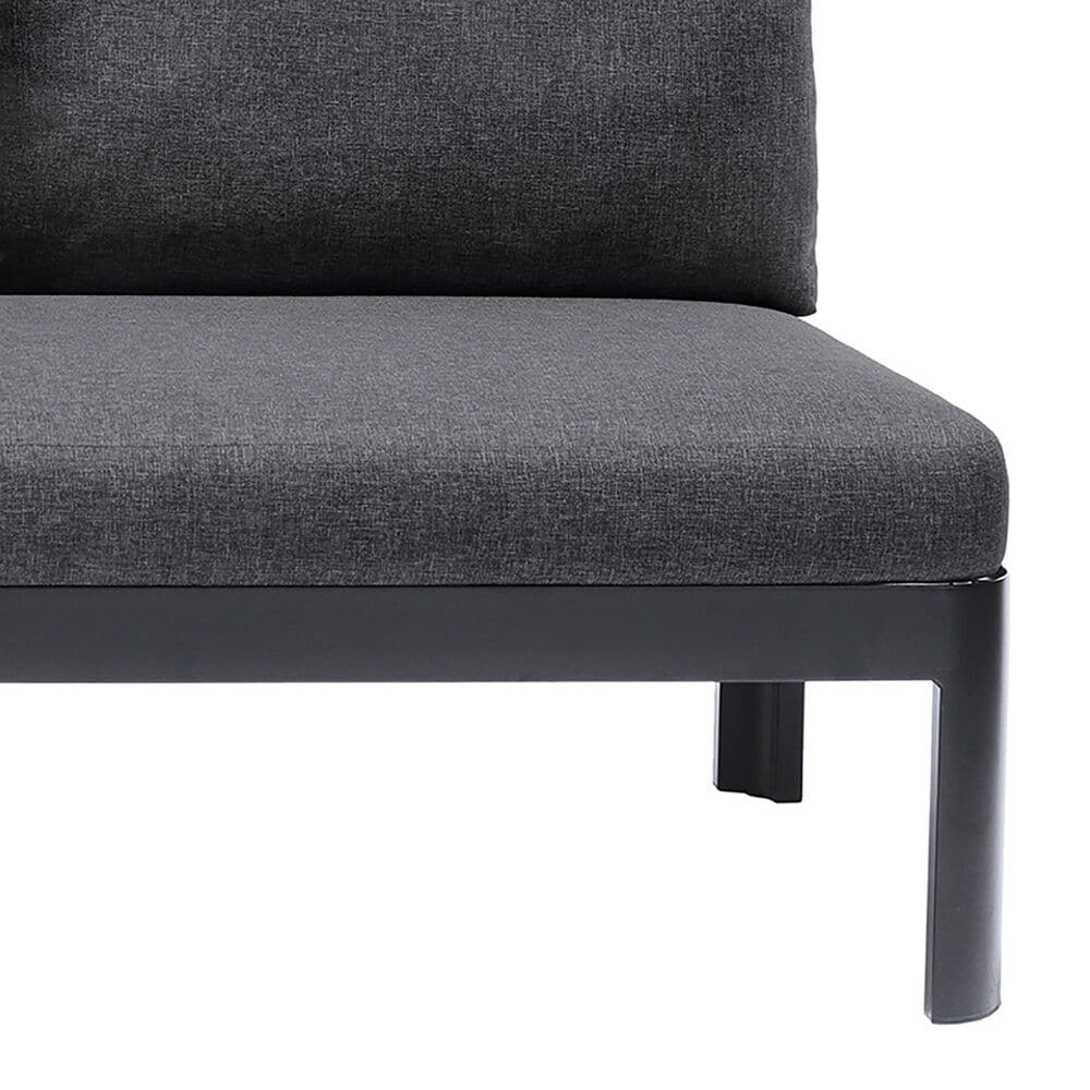 Blue River Portals Patio Sofa in Gray/Black/Teak, , large