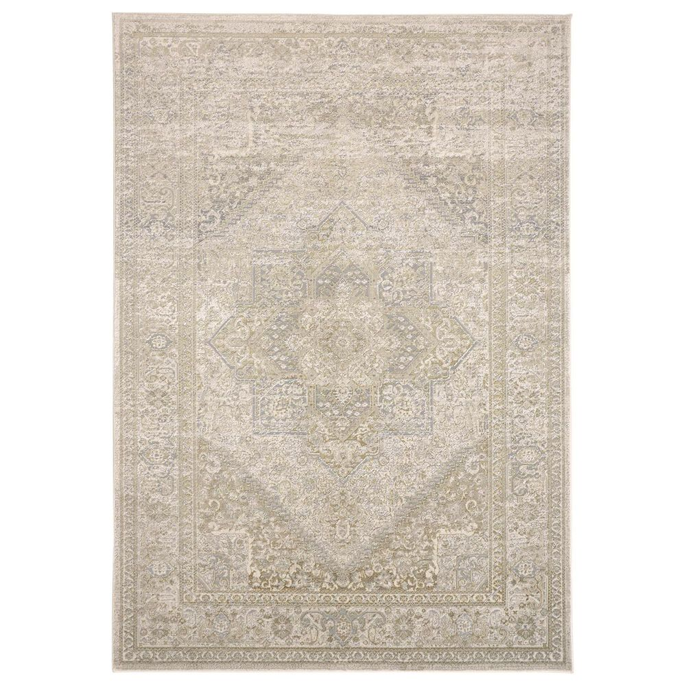"""Feizy Rugs Aura 3734F 6'7"""" x 9'6"""" Brown and Gold Area Rug, , large"""