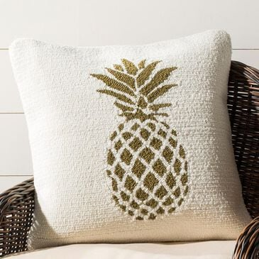 Safavieh Pure Pineapple Pillow in Gold/White, , large