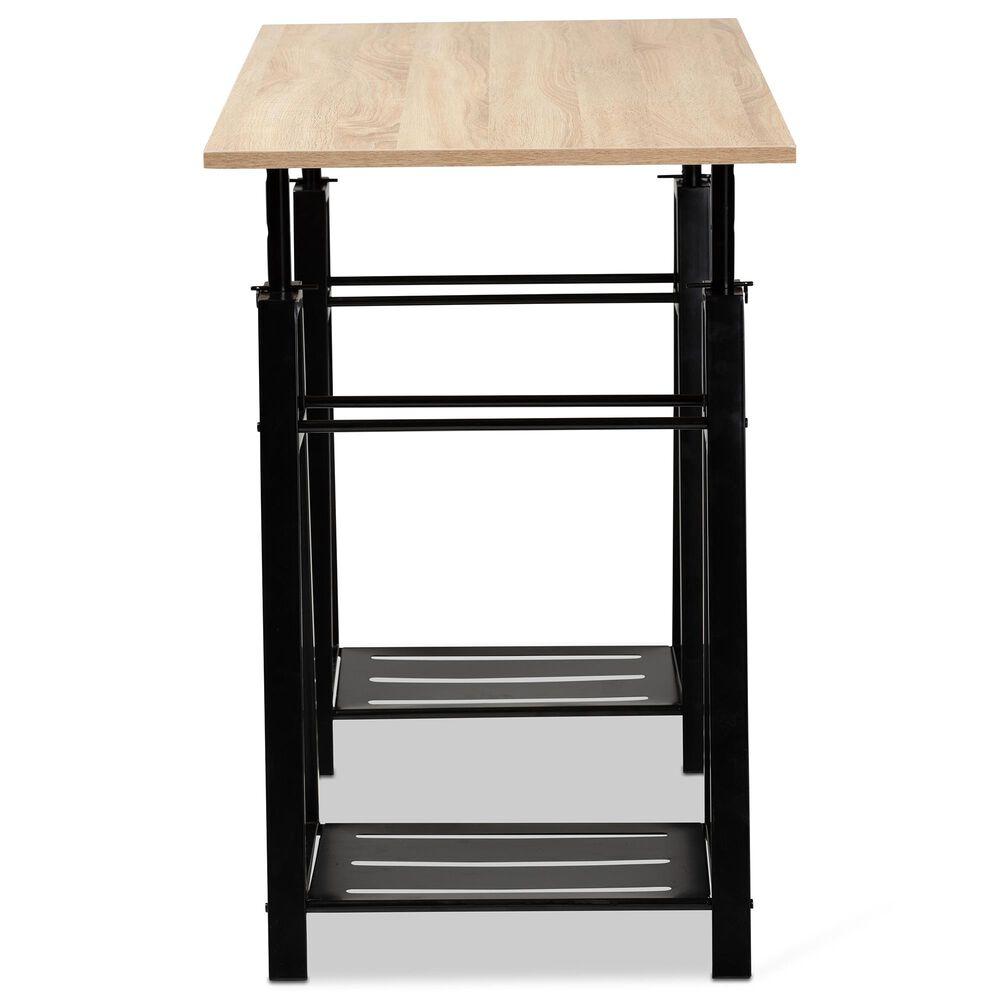 Baxton Studio Mary Adjustable Desk in Ash Walnut, , large