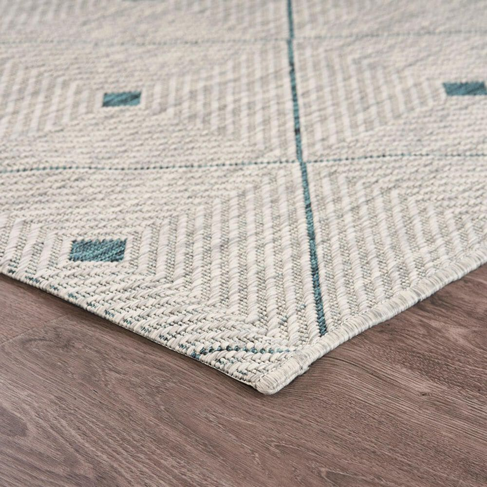 """L&R Resources Sun Shower1'10"""" x 3' Blue and Gray Indoor/Outdoor Area Rug, , large"""