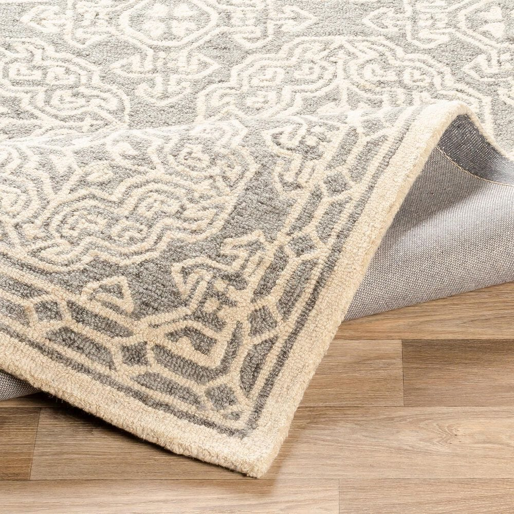 Surya Granada GND-2304 4' x 6' Medium Gray, Beige and Charcoal Area Rug, , large