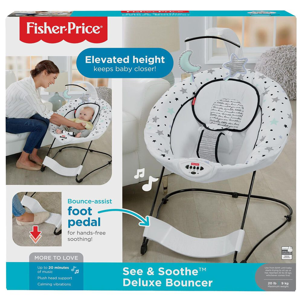 Fisher-Price See and Soothe Deluxe Bouncer in Starry Night, , large