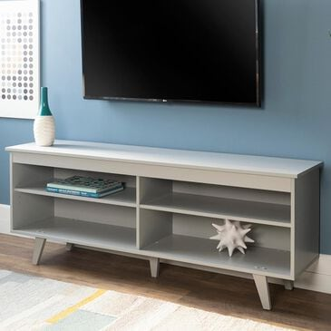 """Walker Edison 58"""" TV Stand in Grey, , large"""