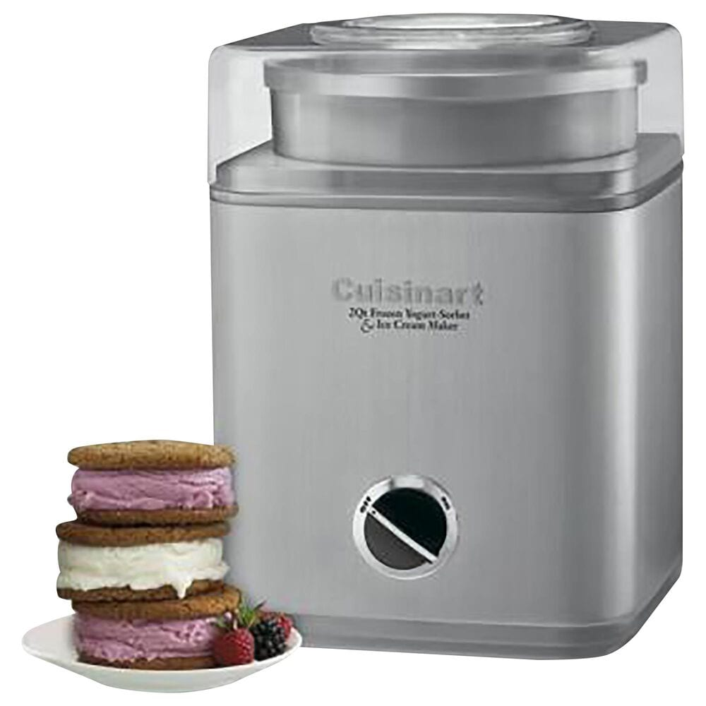 Cuisinart 2 Qt Ice Cream and Yogurt Maker in Brushed Chrome, , large