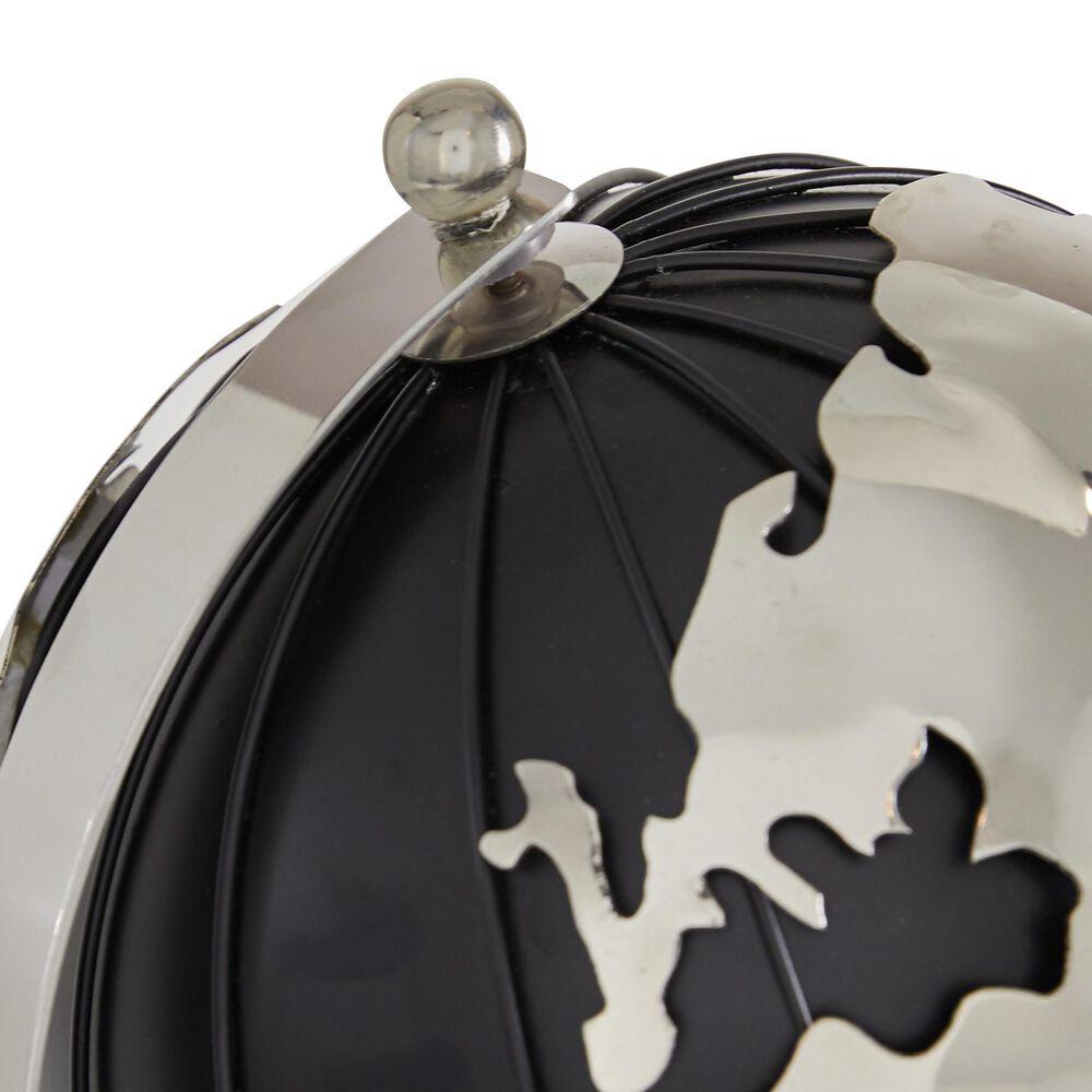 "Maple and Jade 11"" Contemporary Aluminum Globe, , large"