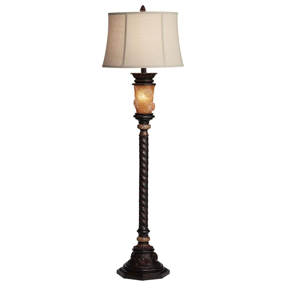 Pacific Coast Lighting Pine Cone Glow Floor Lamp in Dark Bronze, , large