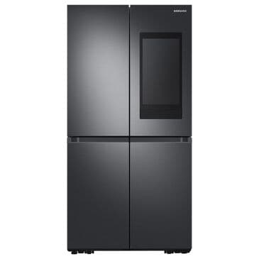 Samsung 22.5 Cu. Ft. Counter Depth 4-Door Flex French Door Refrigerator with Family Hub in Black Stainless Steel, , large