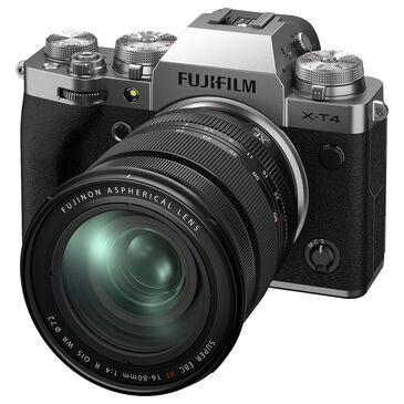 Fujifilm Fujifilm X-T4 Mirrorless Digital Camera with XF16-80mm F4 R OIS WR Lens in Silver, , large