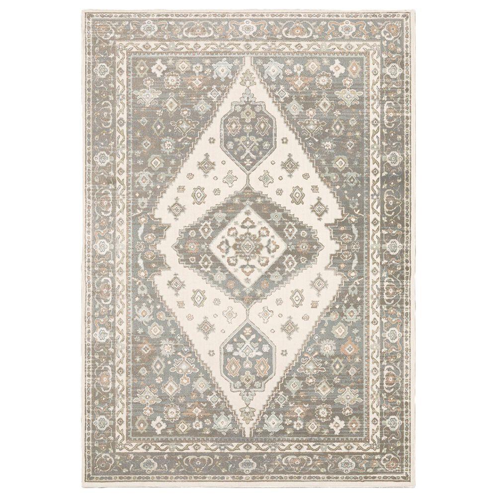 "Oriental Weavers Capistrano Medallion 511E1 6""7"" x 9""6"" Ivory and Grey Area Rug, , large"