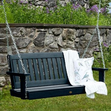 Highwood USA Lehigh 4' Porch Swing in Federal Blue, , large