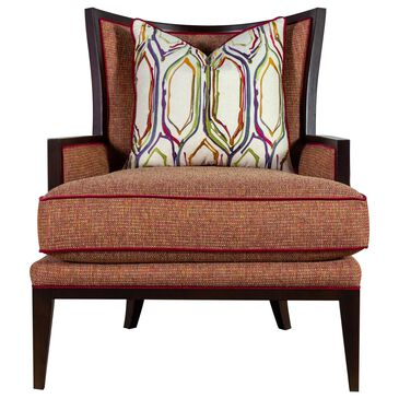 Massoud Wing Chair in Milford Rhubarb , , large
