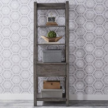 Belle Furnishings Modern Farmhouse Leaning Bookcase in Dusty Charcoal, , large