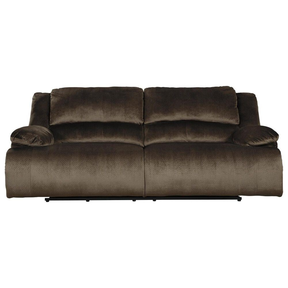 Signature Design by Ashley Clonmel Manual Reclining Sofa in Chocolate, , large