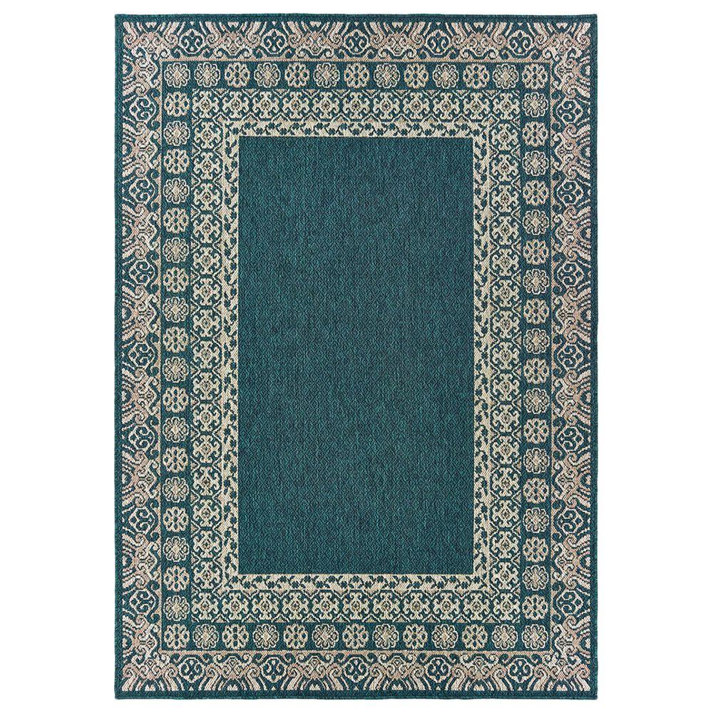 "Oriental Weavers Latitude 1503B 9""10"" x 12""10"" Blue Area Rug, , large"
