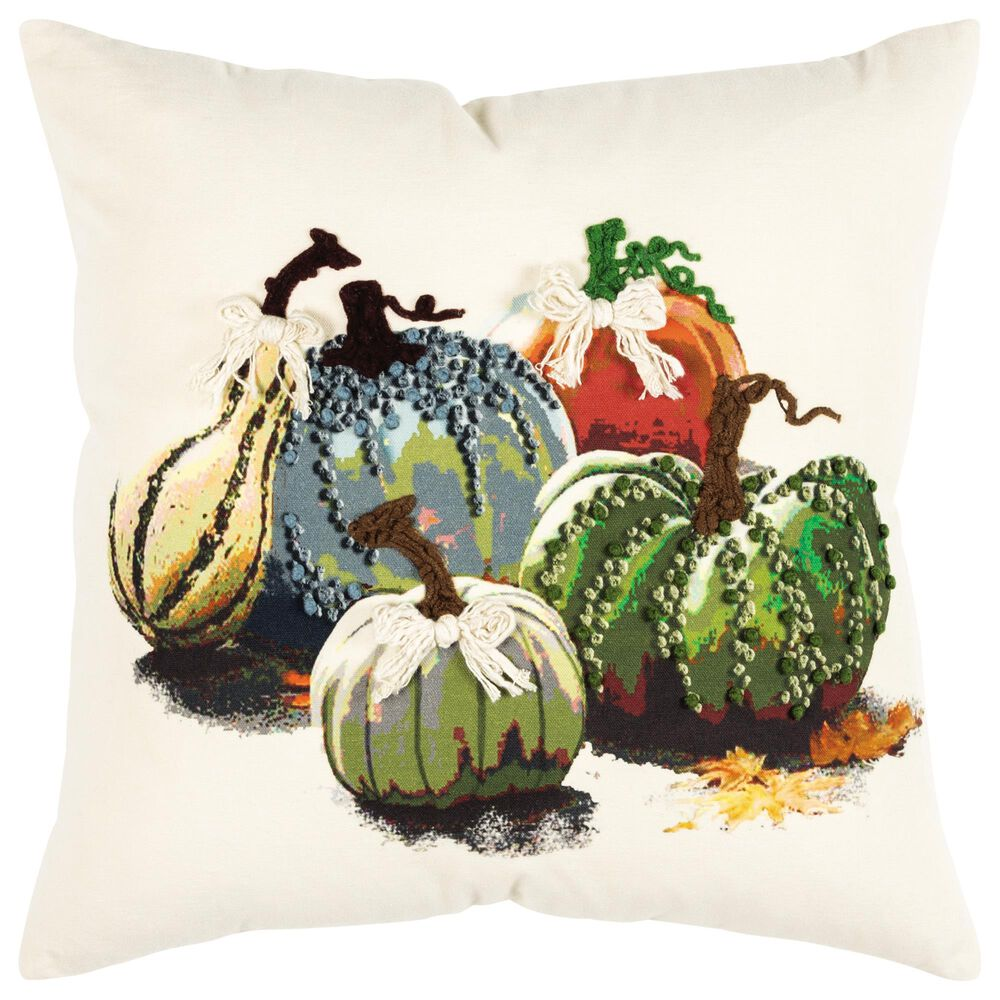 """Rizzy Home Transitional 20"""" Pillow in Natural, , large"""