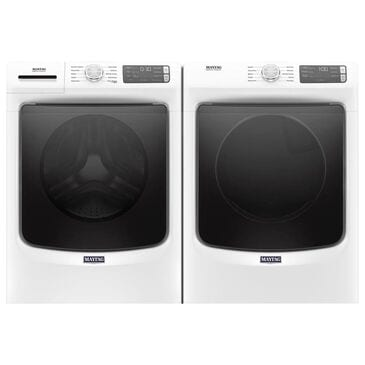 Maytag 4.5 Cu. Ft. Front Load Washer and 7.3 Cu. Ft. Electric Dryer in White, , large