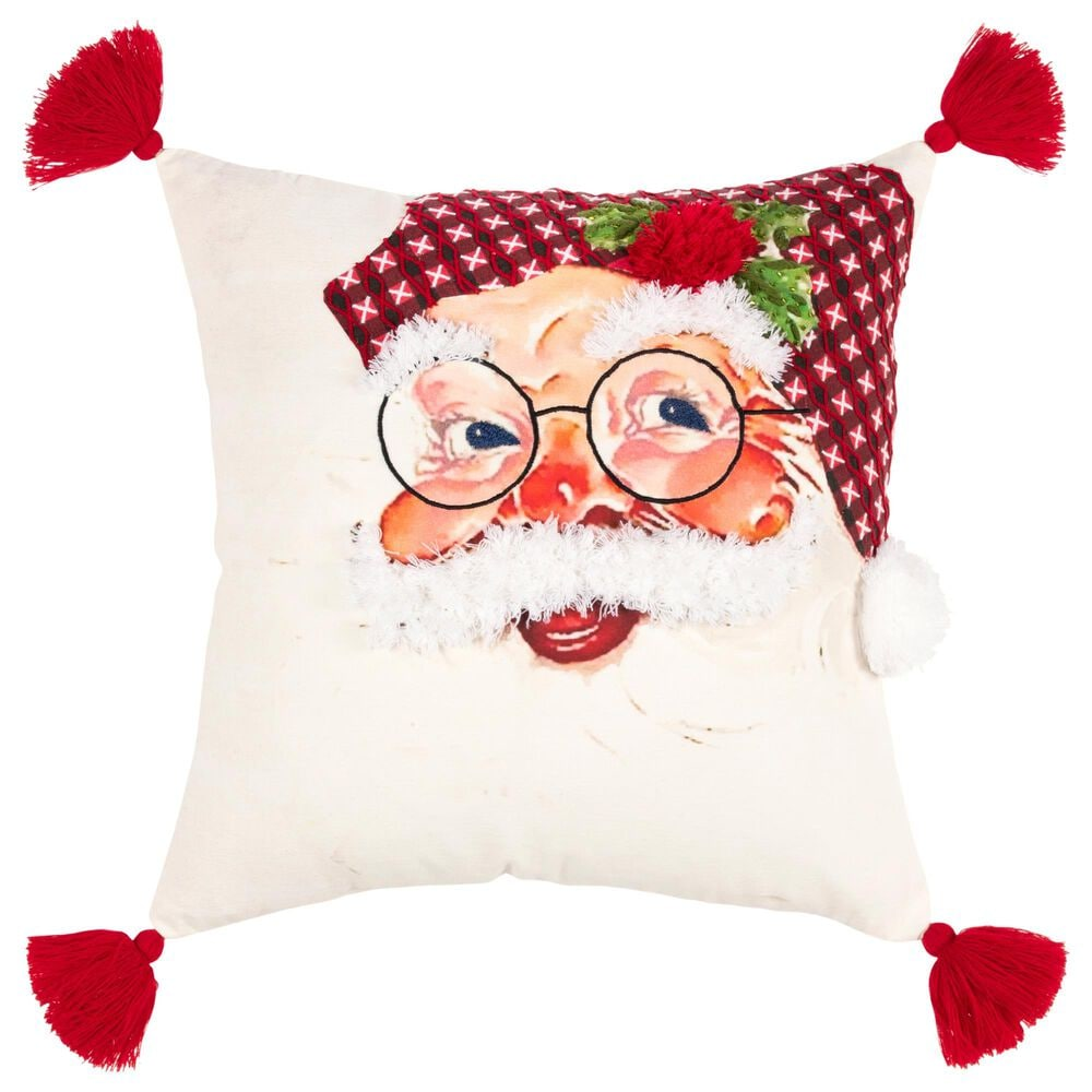 """Rizzy Home Square 20"""" Pillow in White, , large"""