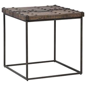 Blue Sun Designs Rivet End Table in Brown, Black, , large