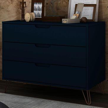 Dayton Rockefeller 3 Drawer Dresser in Midnight Blue, , large