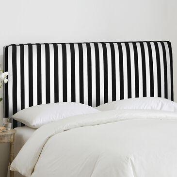 Skyline Furniture Twin Headboard in Canopy Stripe Black And White, , large