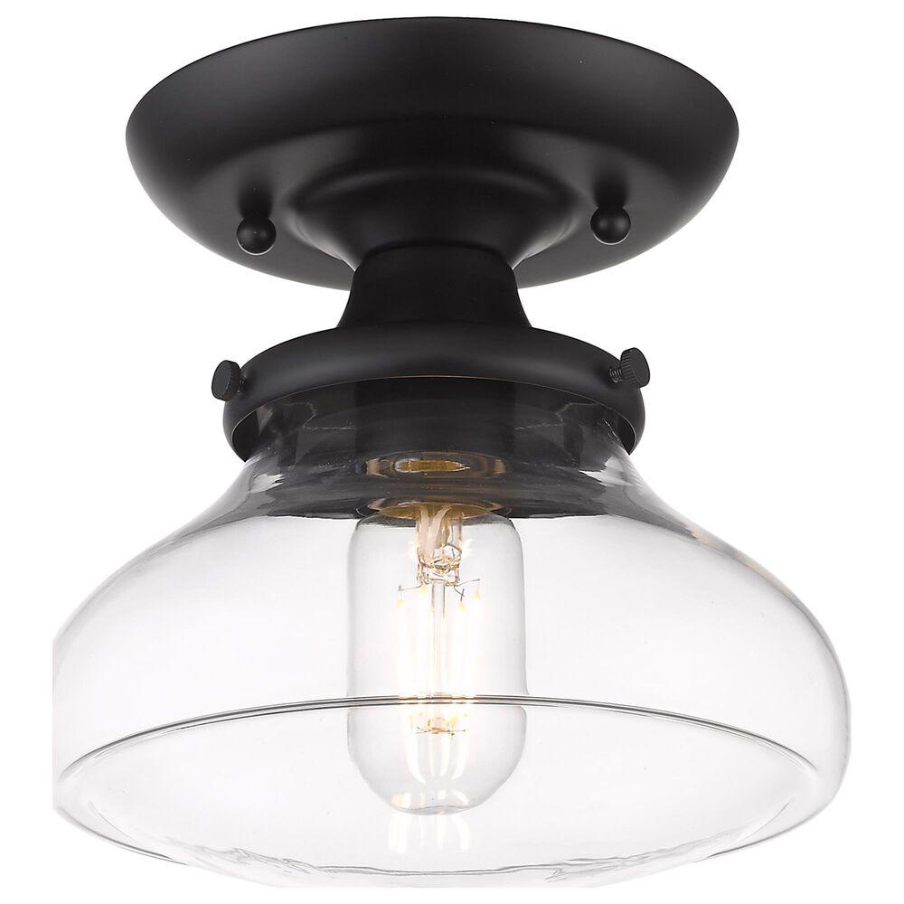 Golden Lighting Nash Semi-Flush in Matte Black with Clear Glass, , large