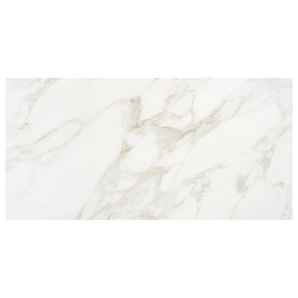 "Marazzi Marble Obsession 12"" x 24"" Polished Porcelain Tile in Arabescato, , large"