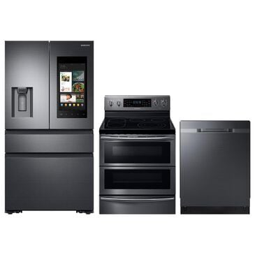 Samsung 3-Piece Kitchen Package with 5.9 Cu. Ft. Electric Range and StormWash 48 dBA Dishwasher in Black Stainless Steel, , large