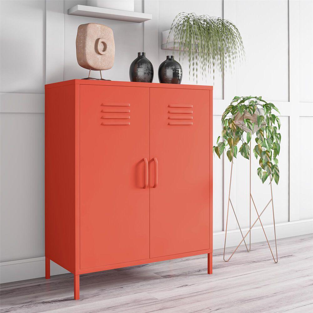 Novogratz Cache 2-Door Storage Cabinet in Orange, , large
