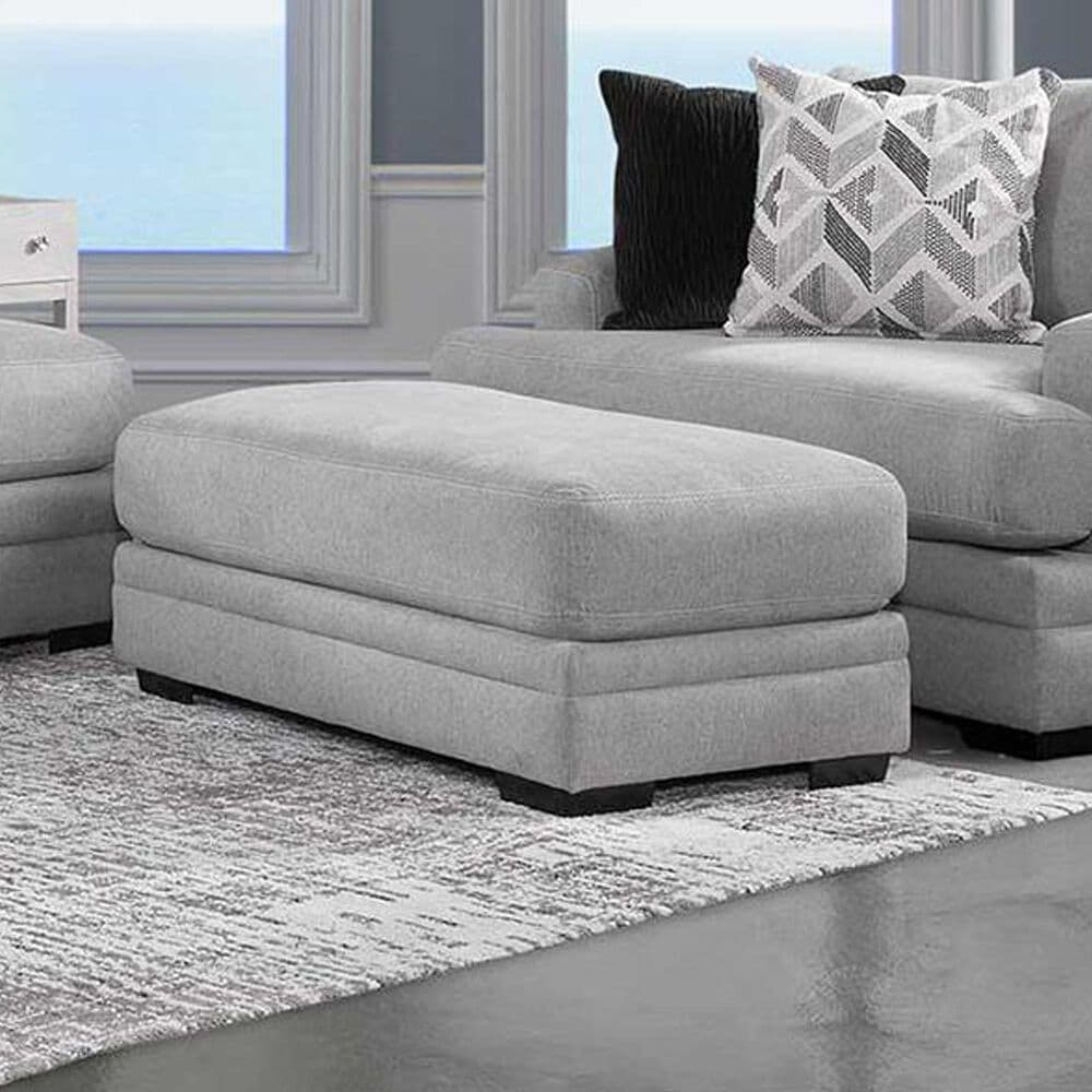 Moore Furniture Cleo Standard Ottoman in Pebble, , large