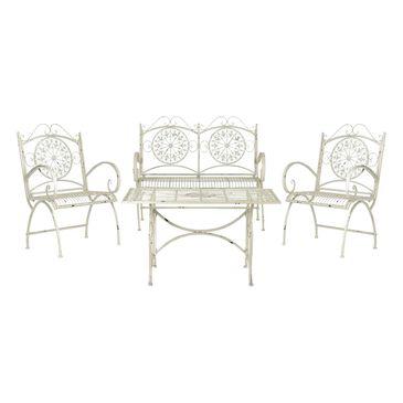 Safavieh Sophie 4-Piece Conversation Set in Antique White, , large